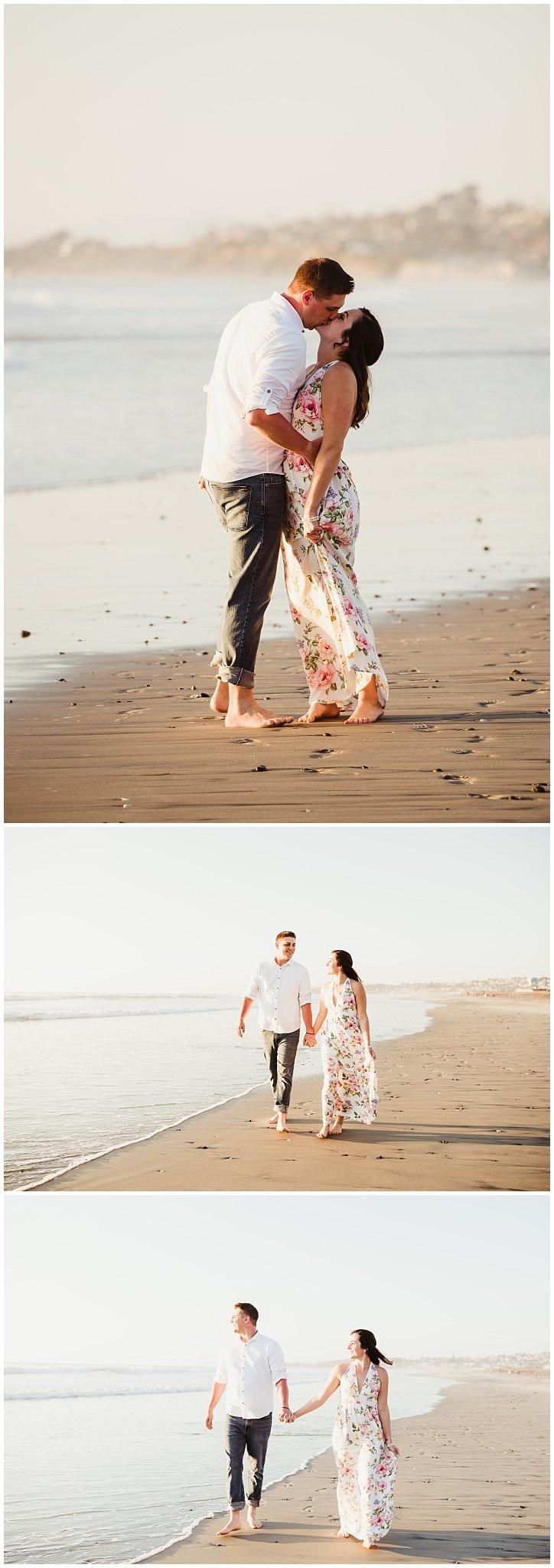 Romantic Beach Engagement San Diego