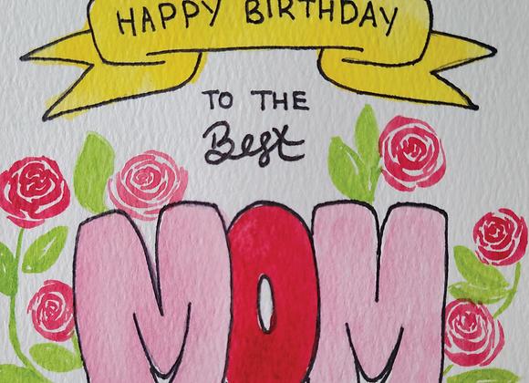 MIYA'S ART SHOP GIFT CARD - Happy Birthday Mom