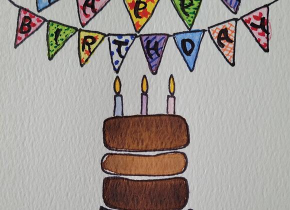 MIYA'S ART SHOP GIFT CARD - Happy Birthday