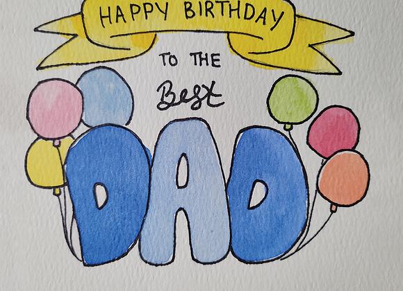 MIYA'S ART SHOP GIFT CARD - Happy Birthday Dad