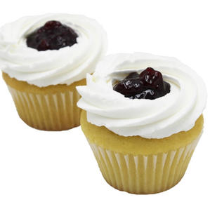 Vegan Blueberry Vanilla  Frosted Cupcakes