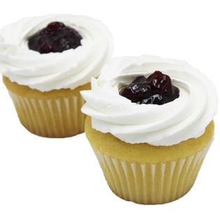 Blueberry Vanilla Frosted Cupcakes