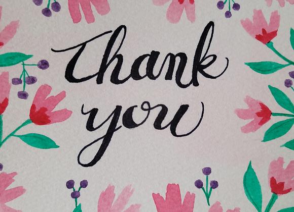 MIYA'S ART SHOP GIFT CARD - Thank You