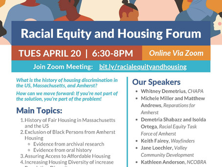 Apr 20: Racial Equity and Housing Forum