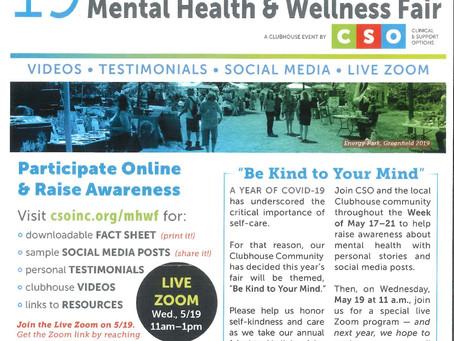 May 19: CSO Mental Health Fair
