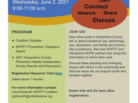 Jun 2: SPIFFY & Hampshire HOPE Event