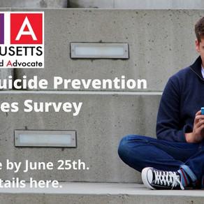Jun 25: Complete a Youth Suicide Prevention Survey
