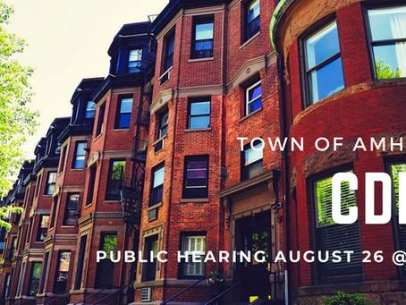 Aug 26: Amherst CDBG Hearing