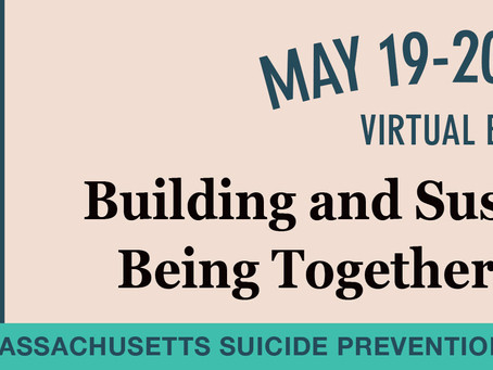 May 19 & 20: Suicide Prevention Conference