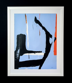orange blue black white  50 x 65 cm  cm