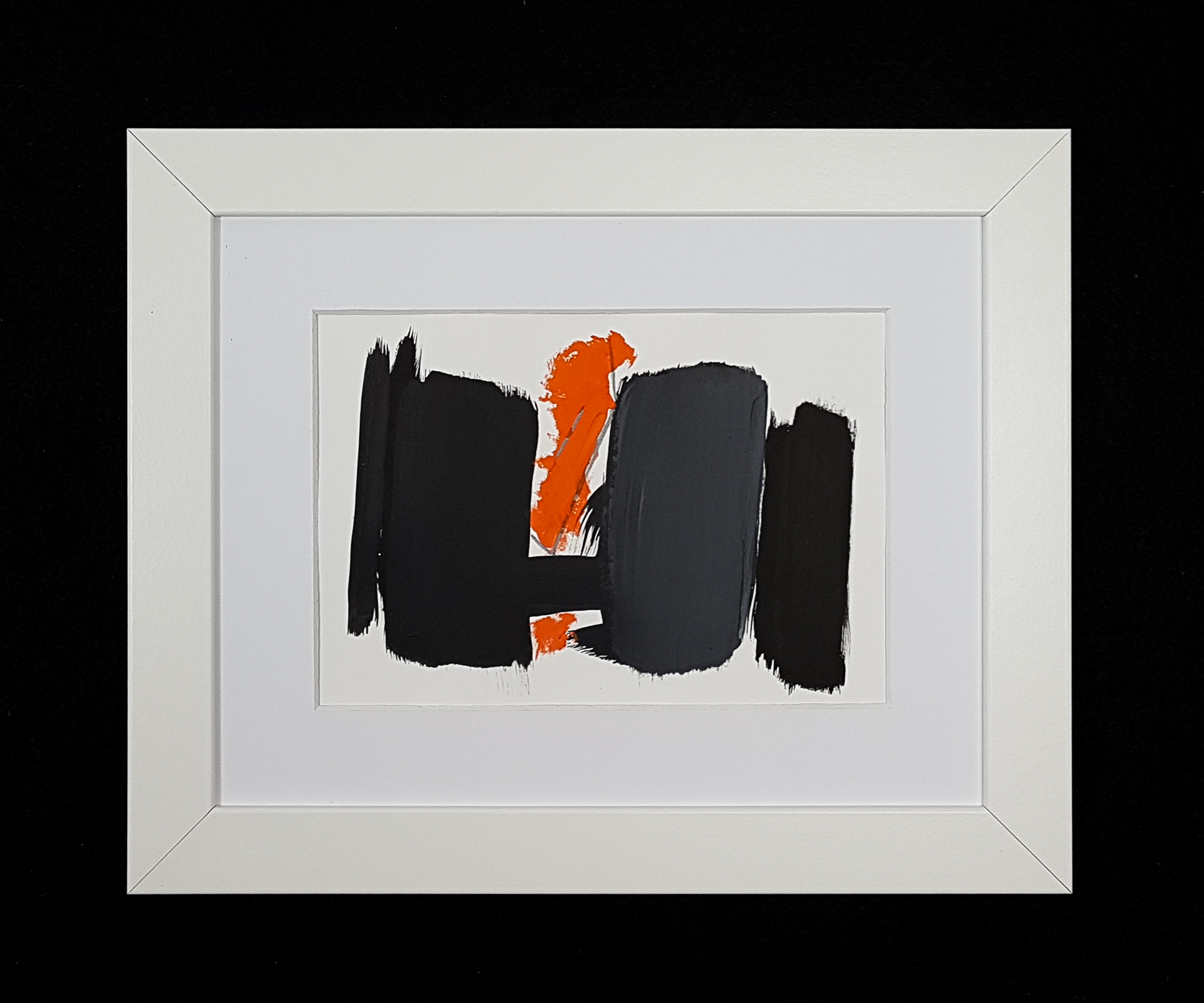 Gray, Orange, Black