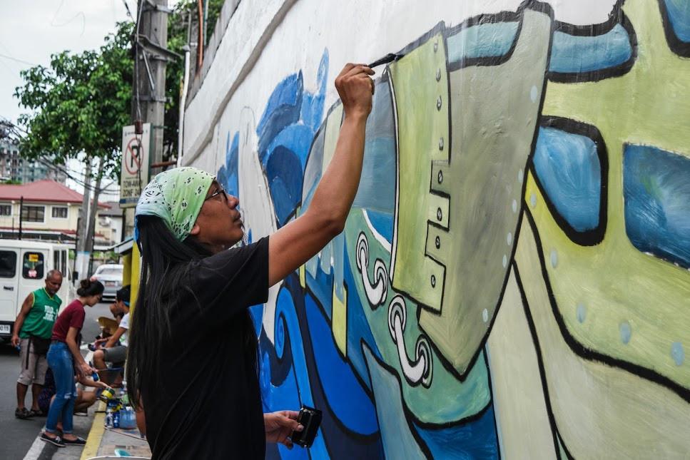 AG Saño, artiste street art très connu aux Philippines
