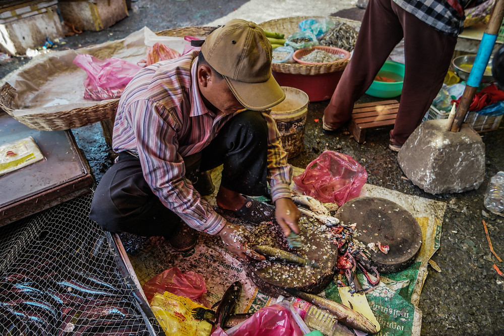 Marché du Phsar Leu à Siem Reap