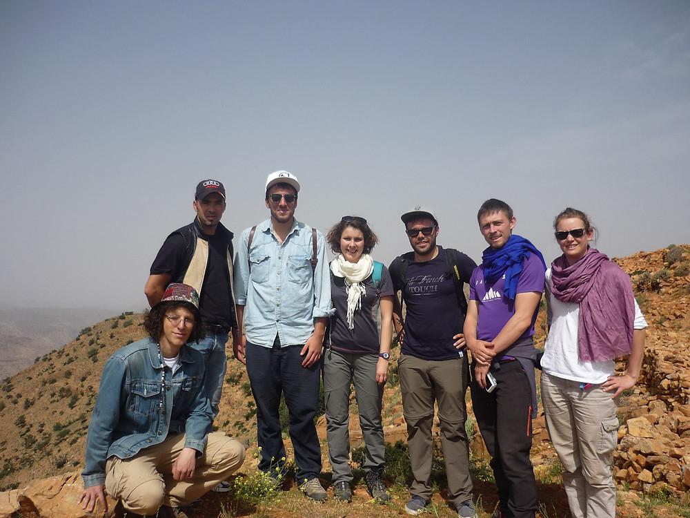 Photo de groupe avec les étudiants de Montpelier et notre guide
