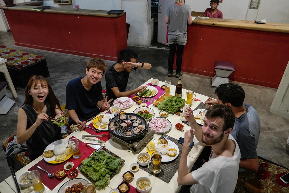 Repas avec nos amis Coréens