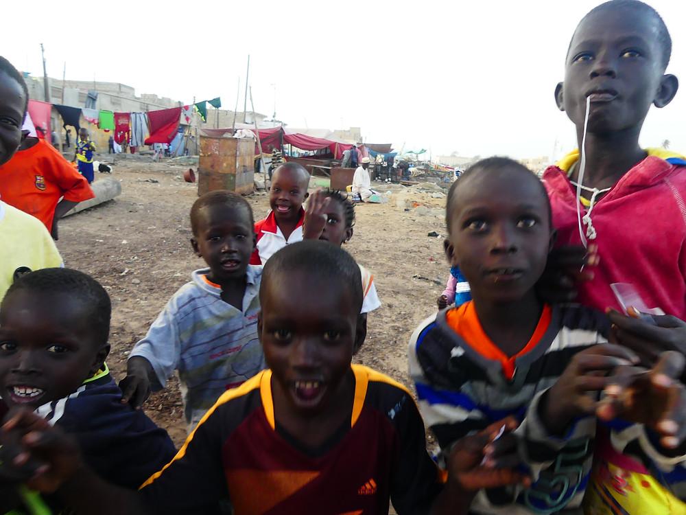 Enfants du quartier de Ndar de Saint-Louis