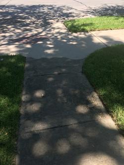 Sidewalk power washing