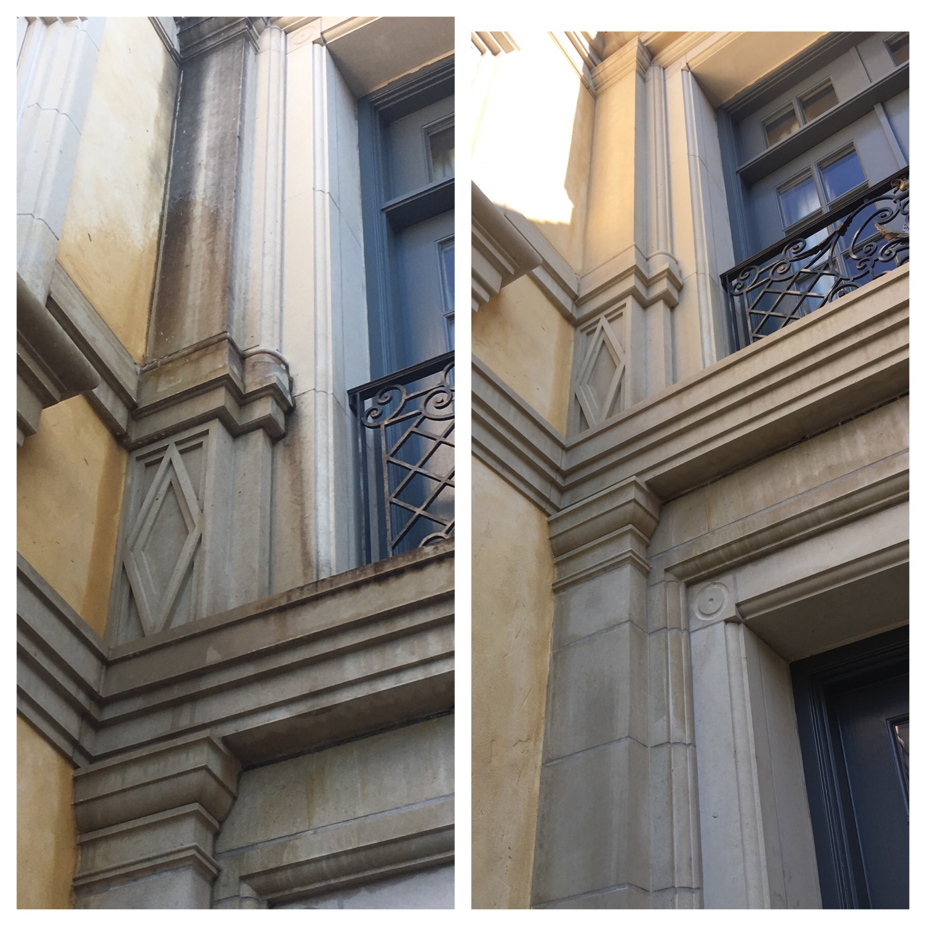 Stucco and Stone cleaning