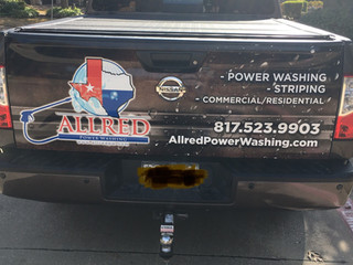 Power washing company truck wraps