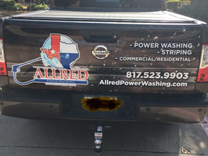 Power washing company truck wraps