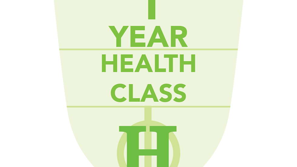 1 Year Health Classes (Paid In Full)