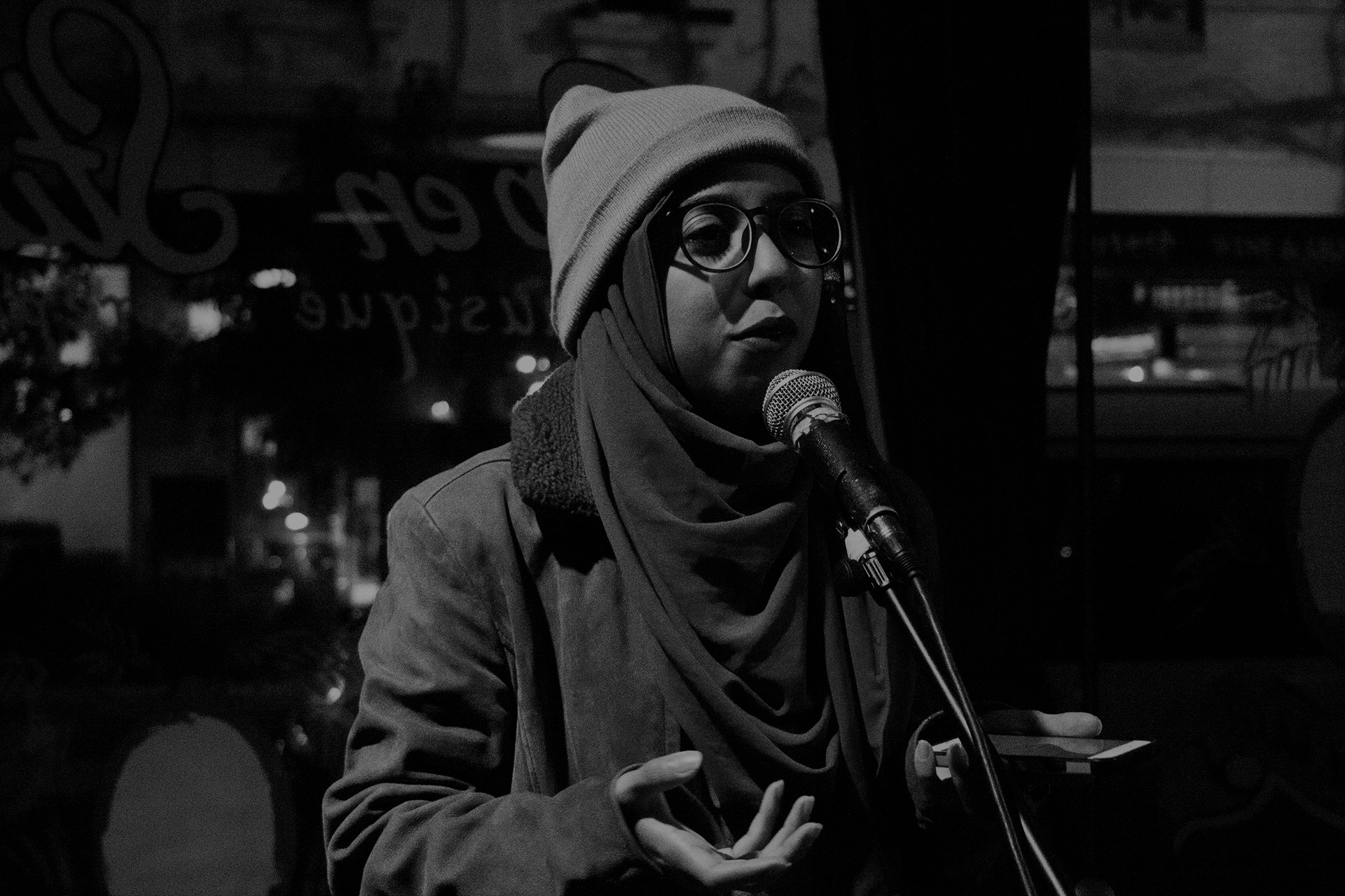 Poet Ummi Tasfia at Open Studio