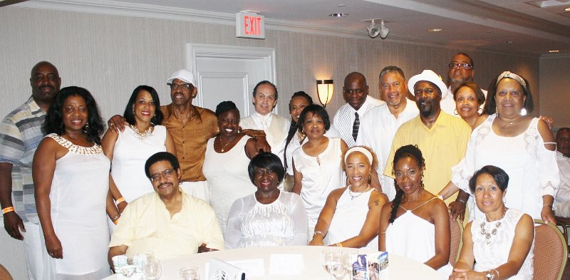 """Greater Boston Steppin Community in attendance of the 2017 """"Shades of Summer"""" White & Gold Event"""