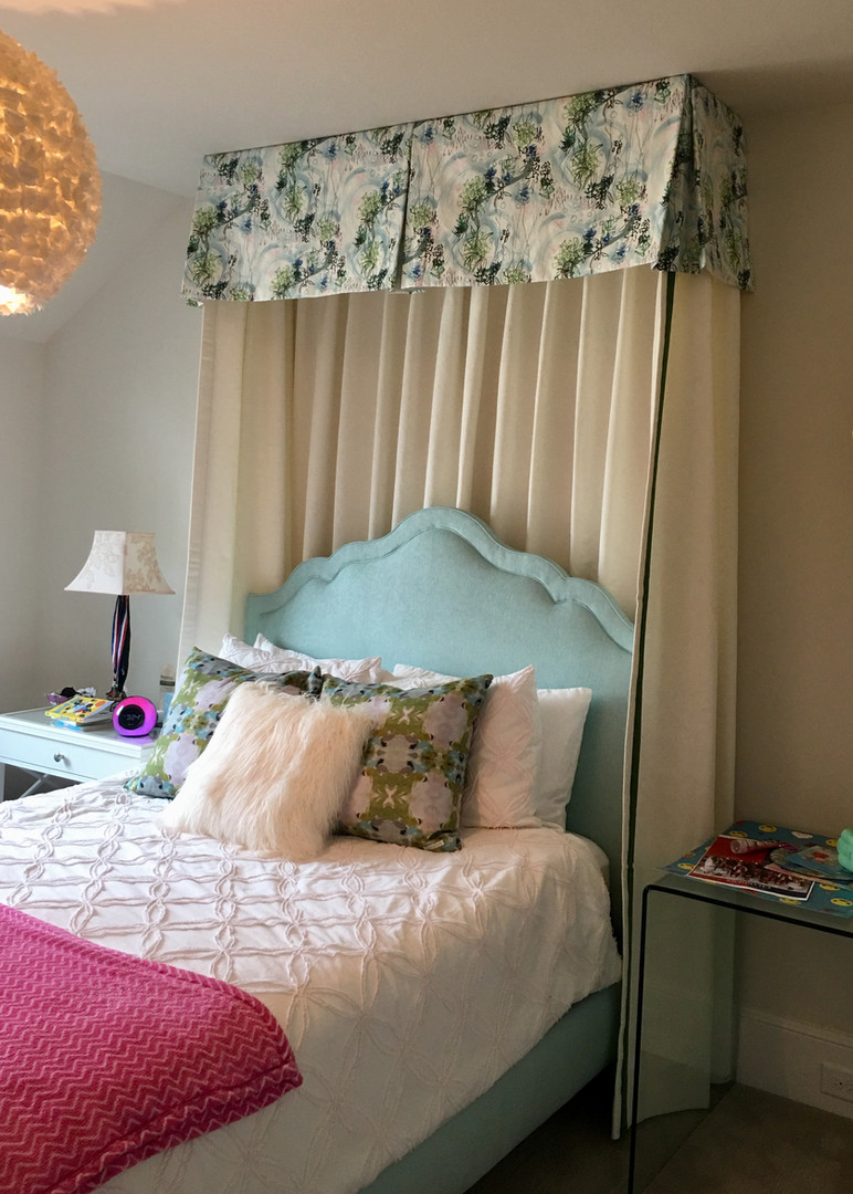 Bed canopy with panels