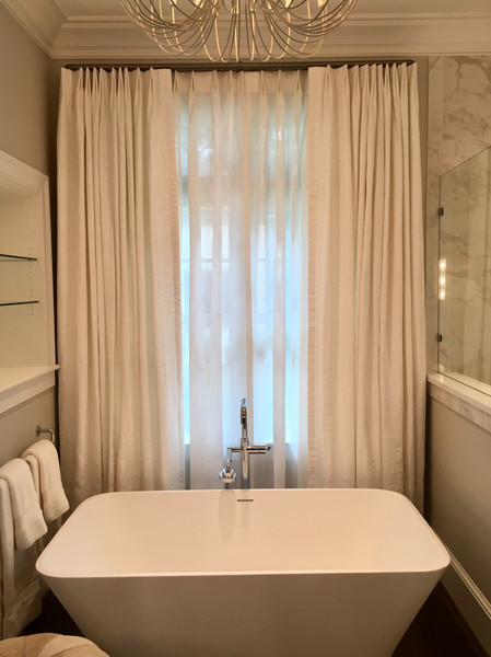 drapery with sheer panels