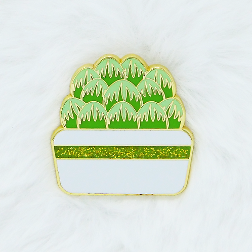 California Botanical Selection - Haworthia cooperi, Premium Succulent Enamel Pin