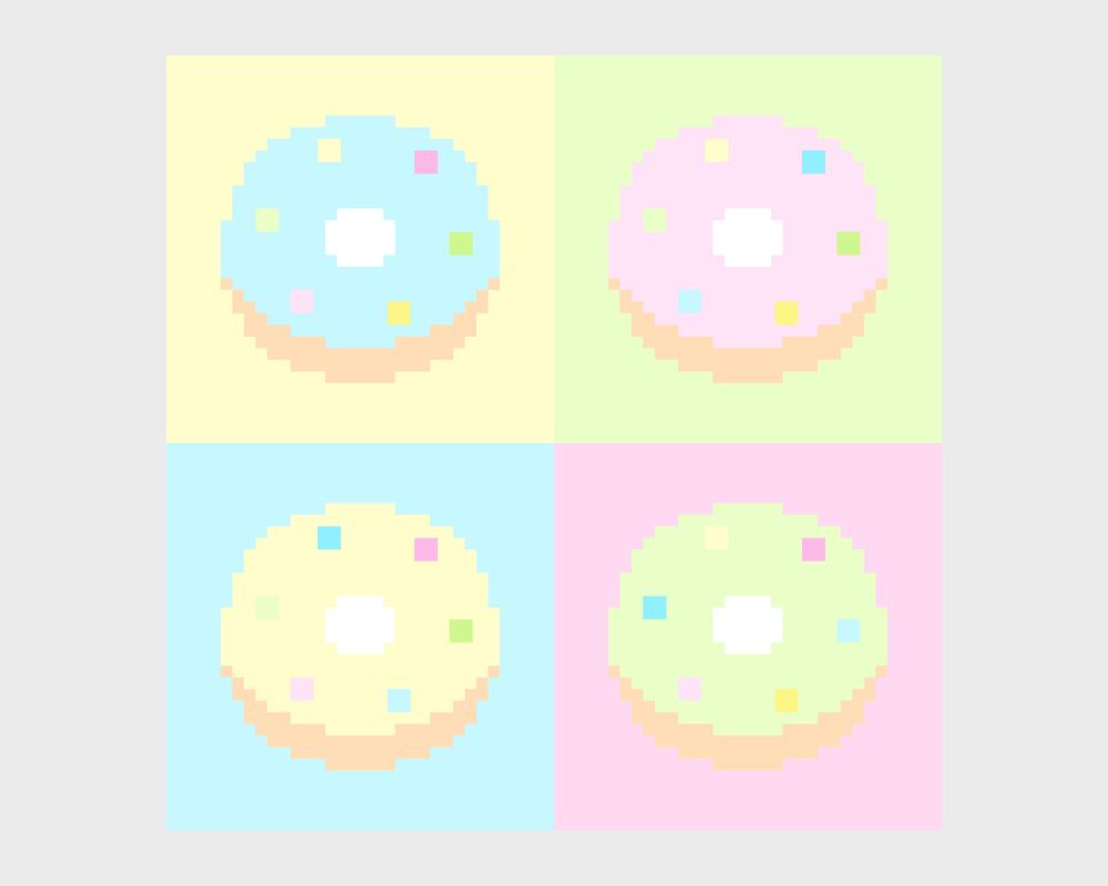 Pastel Pixel Donuts by Yi Han