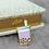 Thumbnail: Yummy Now - Taro Boba Milk Tea, Taro Bubble Tea, Premium Enamel Pin, Lapel Pin