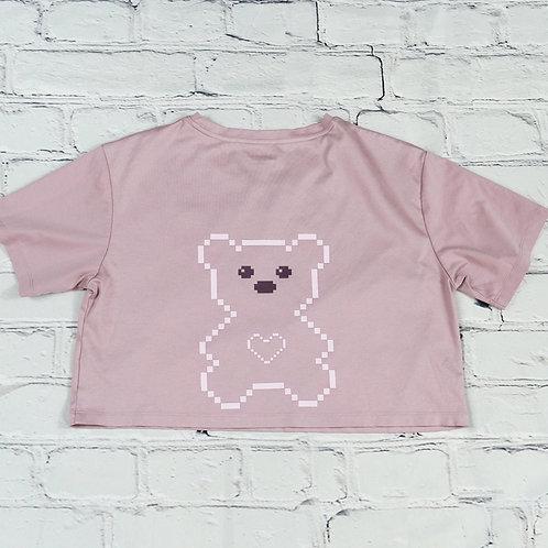 Love U 100% Bears, Crop Top,Silky and Cool Feel, Bears Graphic Tees