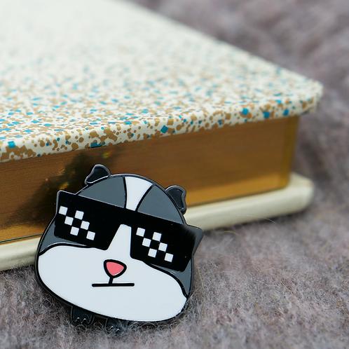 Guinea Pig Emoji - Boss, Premium Enamel Pin