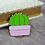 Thumbnail: California Botanical Selection - Echinopsis subdenudata, Premium Enamel Pin