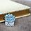 Thumbnail: California Botanical Selection - Echeveria lilacina, Premium Enamel Pin