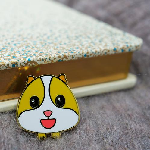 Guinea Pig Emoji -Smile, Premium Enamel Pin