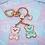 Thumbnail: Love U 100% Bears Keychain, Enamel Bag Charm, Enamel Keychain, Rose Gold Finish