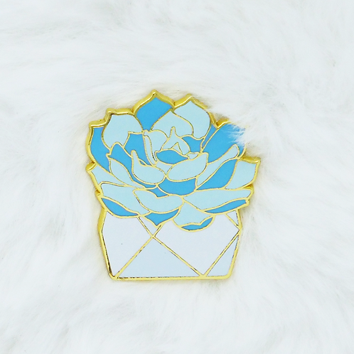 California Botanical Selection - Echeveria lilacina, Premium Enamel Pin