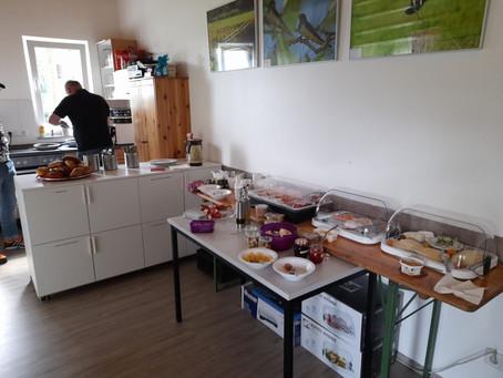 Endlich wieder Frühstück im Eisernen Gustav