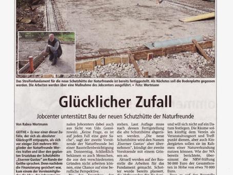 Jobcenter unterstützt Bau der neuen Schutzhütte der Naturfreunde