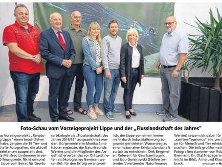 """Foto-Schau vom Vorzeigeprojekt Lippe und der """"Flusslandschaft des Jahres"""""""