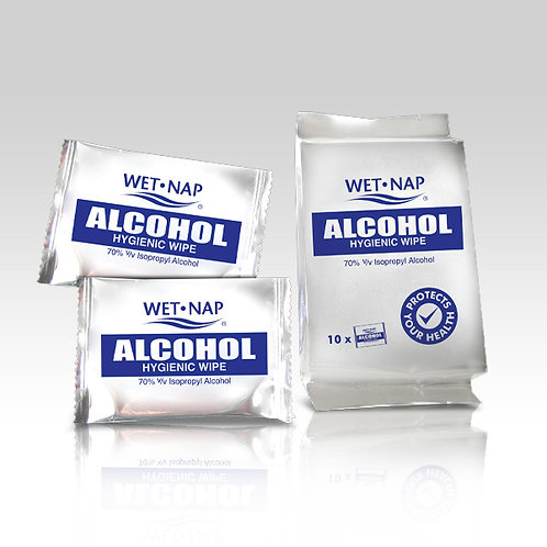 Wet Nap Alcohol 10s