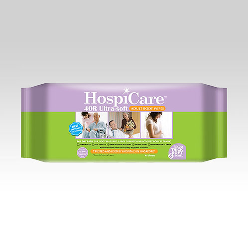 HospiCare 40R Ultra-soft Adult Body Wipes