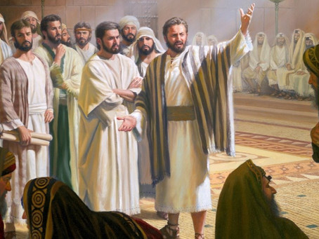 In Commissioning His Disciples
