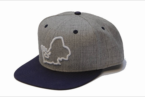 "Cap ""Chiemsee"" heather grey-navy"