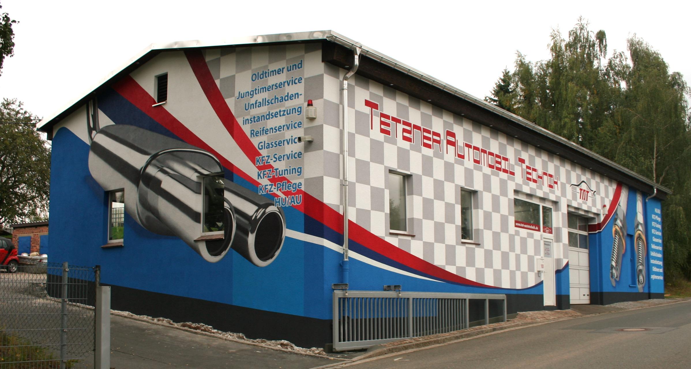 fassadengestaltung KFZ Werkstatt