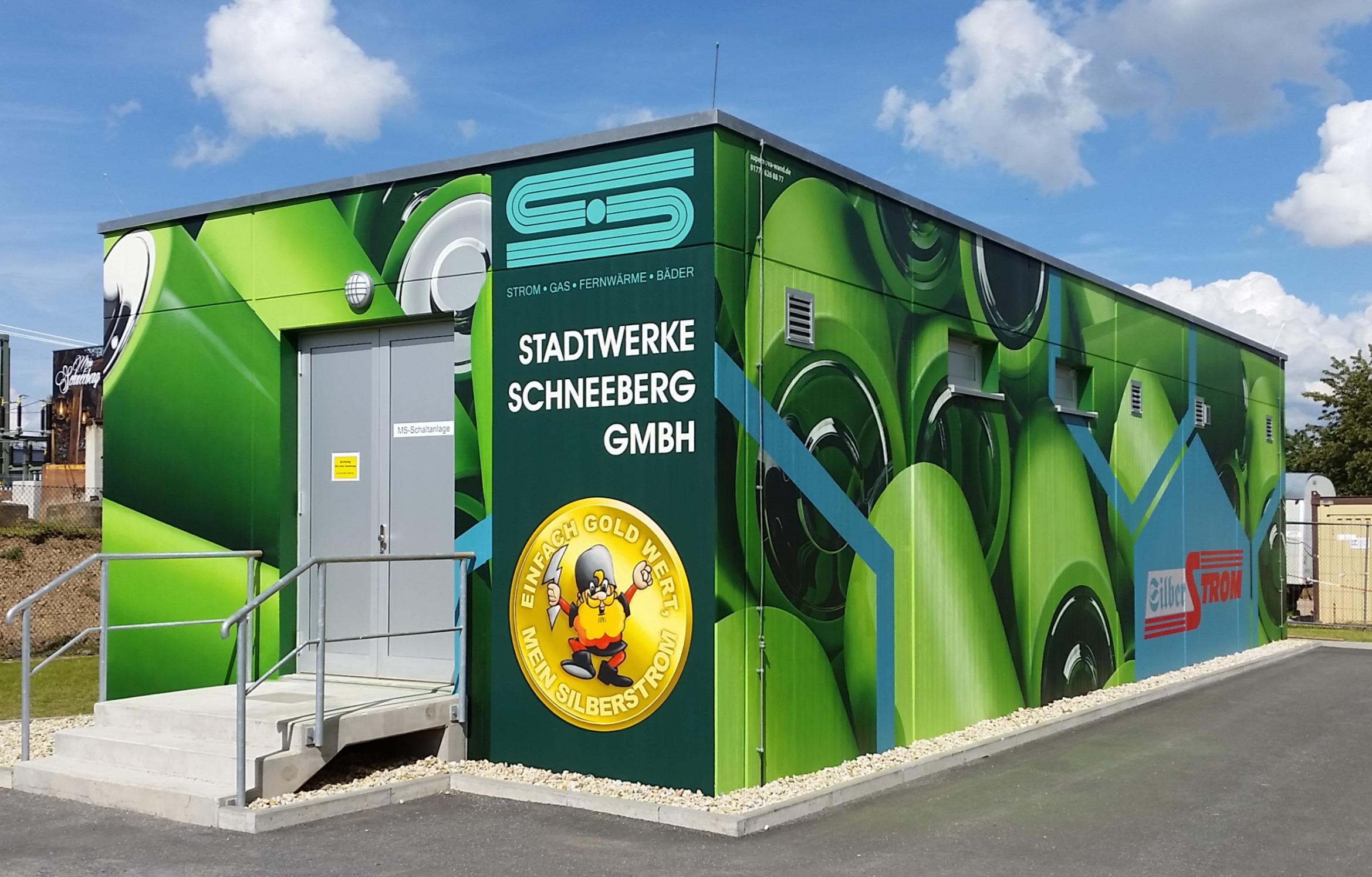 Gestaltung eines Umspannwerkes für Stadtwerke Schneeberg