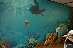 Innenwandgestaltung mit Unterwasser, Korallen