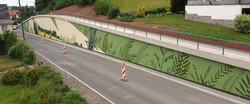 Gestaltung einer Stützwand in Ortmannsdorf